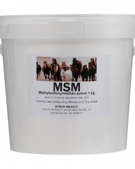 Veterinary MSM for horses that are easily assimilated to sulfur MSM distributes odorless sulfur in a biologically active form. Sulfur is an important mineral