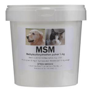 Veterinær MSM til hunde og katte 0.5 kg