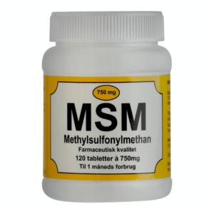MSM 750 mg tabletter styrker muskler