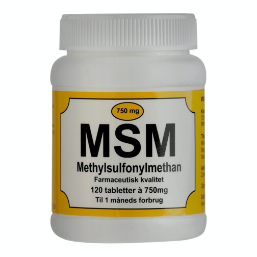 MSM 750 mg tabletter styrker muskler, sener og ledbånd